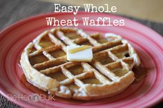 Whole Wheat Waffles are a quick and easy breakfast idea. Enjoy these wheat waffles in just 10 minutes! Breakfast For Dinner, Breakfast Recipes, Breakfast Time, Dinner Recipes, Whole Wheat Waffles, Good Healthy Recipes, Amazing Recipes, Waffle Recipes, Good Food