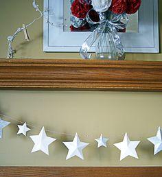 DIY Paper Star Garland