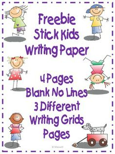 Freebie! Stick Kids Creative Writing Paper 3 Different Grids