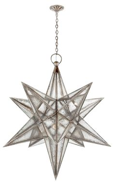 Moravian Star 3-Light Pendant, Silver