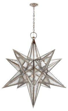 Moravian Star 3-Light Pendant, Silver