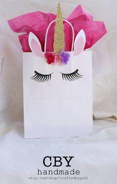 GRANDES bolsas de regalo de parte de unicornio conjunto de 5