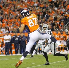 Decker had a breakout game. Broncos vs. Raiders: Shots of the Game Monday Night Sep 23, 2013