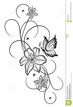 blumenranken tattoo 20 sch ne vorlagen f r diverse k rperstellen schmetterlinge blumen und frau. Black Bedroom Furniture Sets. Home Design Ideas
