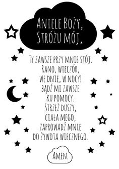 Modlitwa Aniele Boże czarno-biała - wersja 2 Girl Nursery Themes, Daughters Room, Baby Girl Blankets, Kids Room Design, Nursery Inspiration, Quote Posters, Cute Drawings, Kids And Parenting, Picture Quotes