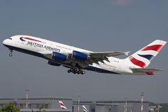 Ein Airbus A380 der British Airways.