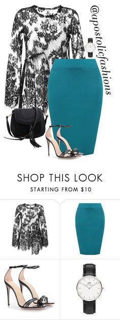 """""""Apostolic Fashions #1739"""" by apostolicfashions ❤ liked on Polyvore featuring P.A.R.O.S.H., WearAll, Gucci, Daniel Wellington and MKF Collection"""