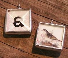 Memory Glass  Solder Art Pendant Box of 30 tiny by GlassSupplies
