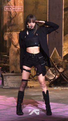 Lisa Black Pink, Black Pink Kpop, Blackpink Fashion, Fashion Outfits, Square Two, Lisa Blackpink Wallpaper, Kim Jisoo, Blackpink Photos, Jennie Blackpink