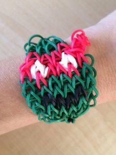 Rainbow Loom - Teenage Mutant Ninja Turtle RAPHAEL made with Genuine Rainbow Loom Bands on Etsy, $5.00