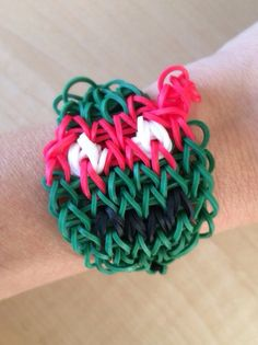 Rainbow Loom - Teenage Mutant Ninja Turtle RAPHAEL made with Genuine Rainbow Loom Bands on Etsy, $5.00