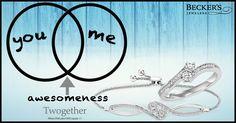 You + Me = Awesomeness!  #Twogether #TwoStoneRing #TwoStoneBracelet #MyTwogether