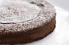 Gluten-Free Chocolate Cake with almond flour and agave nectar