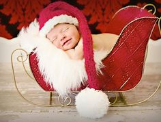 Baby Christmas Hat Photo Prop: Make baby's very first Christmas pictures even more memorable with a Baby Christmas Hat Photo Prop. Isn't it adorable? Newborn Christmas Pictures, Baby Christmas Hat, Holiday Pictures, Babies First Christmas, Newborn Pictures, Baby Pictures, Christmas Christmas, Christmas Stocking, Family Pictures