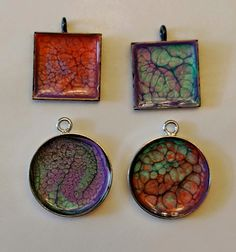 Ginger Wilson: Art Experiment, Pebeo Prisme and jewelry blanks