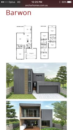 Modern House Plans, Small House Plans, House Building, Building Ideas, 4 Bedroom House, House Architecture, Little Houses, Sims, House Ideas