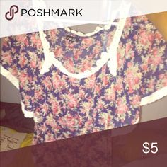 Sheer top Sheer rue 21 top with loose sleeves will gladly bundle any items !! Rue 21 Tops Blouses