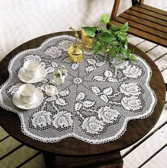 White Crochet Napkin, Crochet Table Doily, Handcrafted Home Decor, Rustic Charm, Delicate Lace, Delicate Lace,Rose Table Center