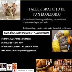 #Caceres TALLER GRATUITO DE PAN ECOLÓGICO ecoagricultor.com