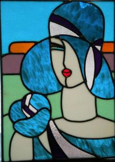 Stained Glass Flapper  ~  Links to more sizes inside (88 pieces)