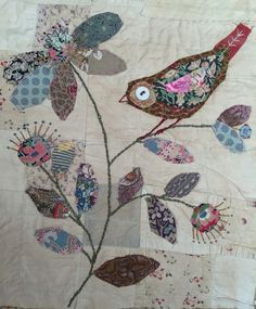 quilt appliqué format you will further embellish your piece with decorative embroidery stitch detailing