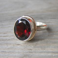 Epic garnet ring, my birthstone Jewelry Accessories, Jewelry Design, Jewelry Ideas, Basic White Girl, My Birthstone, Garnet Rings, Statement Rings, Metal Jewelry, Jewelery