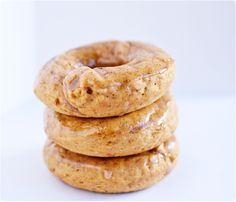 Baked Pumpkin Doughnuts with Vanilla Bean Cinnamon Glaze from OneStarryNight.com
