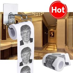 New Donald Trump Smile 2/3ply 150 Sheets Toilet Paper Roll Novelty Funny Gag Gift