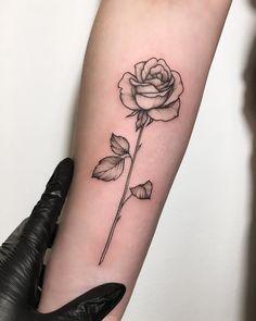 Rose Tattoo Small Tattoo Flower Tattoo Simple Tattoo Rose With
