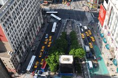 Summer aerial view Herald Square, Aerial View, Times Square, Travel, Summer, Image, Viajes, Summer Time, Destinations