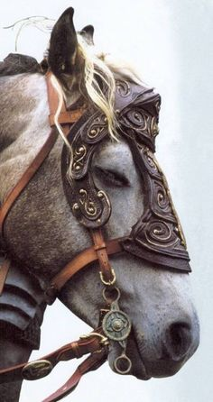The destrier is the best-known war horse of the medieval era. It carried knights in battles, tournaments, and jousts. It was described by contemporary sources as the Great Horse, due to its significance. While highly prized by knights and men-at-arms, the destrier was not very common.[2] Most knights and mounted men-at-arms rode other war horses, such as coursers and rounceys.[3] These three types of horse were often referred to generically as chargers.