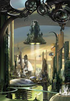 [Science fiction art] Baselines by dearden at Epilogue