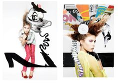 QUENTIN JONES MIXED MEDIA collaboration with rankin for the hunger magazine