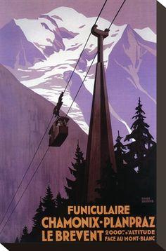 Chamonix-Mont Blanc, France - Funicular Railway to Brevent Mt. Premium Poster