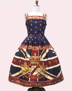 Union Jack Just Waist JSK in brown/navy/wine - Innocent World