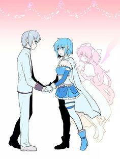 Helping Sayaka in having Kamijou-kun ^^