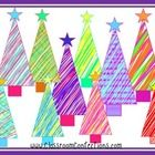 10 scribble clip art Christmas trees....  Merry Christmas from Molly!  As 2013 nears an end, I want to thank you for a perfect year.  I am always a...