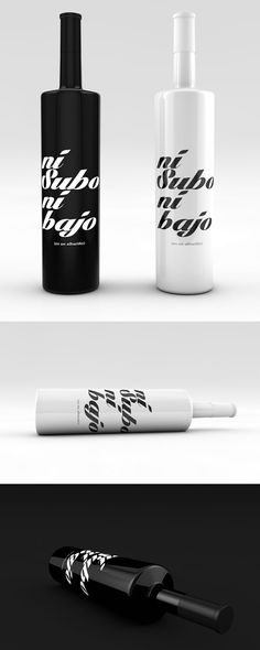 Nice black and white #packaging #design for White Wine (Albariño) brand. PD