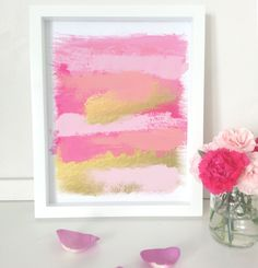 Brush stroke abstract art print  home decor  by PaperInkPrints