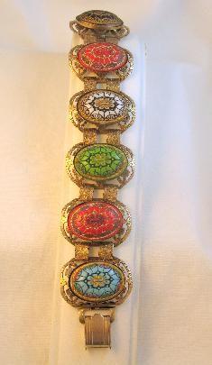 Moroccan Mosaic Victorian Revival Bracelet
