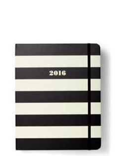2016 17-month large agenda- black stripe by kate spade new york