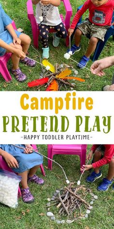 Campfire Pretend Play is summer activity for kids. Let your little one make their own campfire to roast marshmallows, sing songs and more! Outdoor Activities For Toddlers, Summer Activities For Kids, Drama Activities, Camping Activities, Magic For Kids, Kits For Kids, Toddler Preschool, Toddler Crafts, Kids Obstacle Course