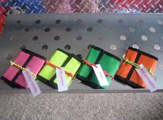 Wallets for invites to 80's party