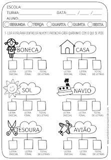 Atividade pronta - contagem, quantidade - A Arte de Ensinar e Aprender Literacy Strategies, Learn Portuguese, Learn English, Alphabet, Homeschool, Teaching, Math, Gabriel, Language Activities