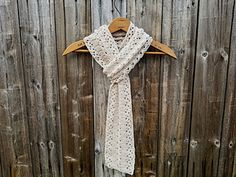 Ravelry: Rustic Lace Scarf pattern by Erica Fedor