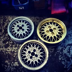 BBS  Silver to primed to gold stages.