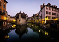 A castle (and later, a prison) in the centre of the Thiou canal in Annecy, South-Eastern France.