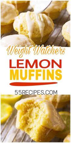 Lemon Weight Watchers Muffins - 55 Rezepte - Let's Eat - Weight Watcher Desserts, Weight Watchers Snacks, Muffins Weight Watchers, Petit Déjeuner Weight Watcher, Plats Weight Watchers, Weight Watchers Breakfast, Weight Watchers Cupcakes, Weight Watchers Brownies, Weight Watchers Vegetarian