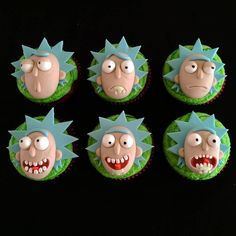 Super cool Rick and Morty themed cupcakes I made for an order this week!   GET…