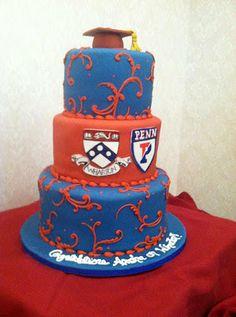 Penn Graduation Cake UPenn Pinterest Cake And Chocolate - The biggest birthday cake